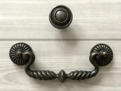 "4.75/"" Vintage Style Drop Bail Drawer Pull Dresser Handle Antique Bronze 4 3//4/"""
