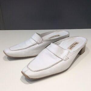 Paul Green UK 6 White Leather Mules | eBay