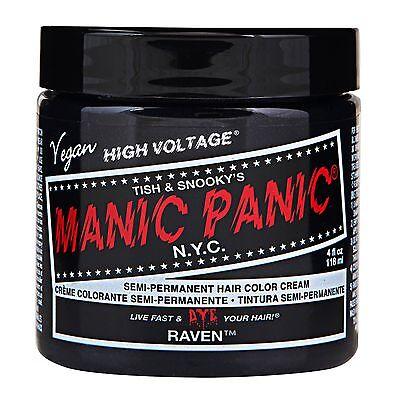 MANIC PANIC CLASSIC CREAM FORMULA SEMI-PERMANENT VEGAN HAIR DYE 4.OZ ALL COLORS.