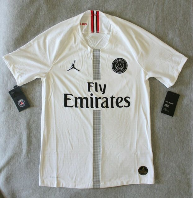 sneakers for cheap c26dd 84cd4 Nike Paris Saint Germain PSG Vapor Match Third Jersey White 918923-102 Small