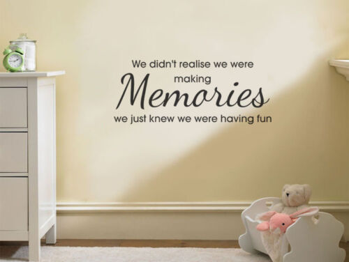 """Transfer. Vinyl Decal Wall Quote /""""Making Memories../"""" Wall Art Sticker"""