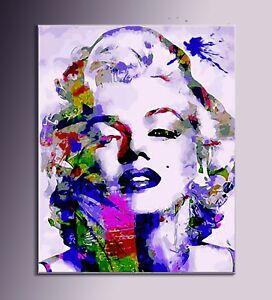 QUADRO MODERNO Marilyn Monroe STAMAPA SU TELA pop art astratto ...