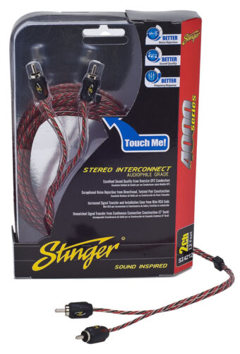 Stinger Pro 4000 Series Audiophile 15/' 2 Channel RCA Interconnects Cable SI4215