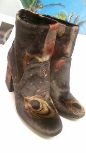 4a553c36994 A NEW DAY Target Velvet Floral Peacock Ankle Boots Heels Women s ...