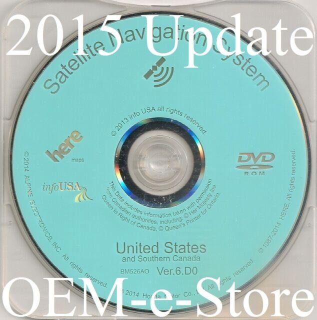 Update Honda Navigation DVD Map for 2007 to 2011 CRV Fit Element Insight  Hybrid