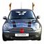 Auto-Rentier-Geweih-amp-Rot-Rudolph-Nase-Weihnachten-Festliche-Van-Dekoration-Set Indexbild 3