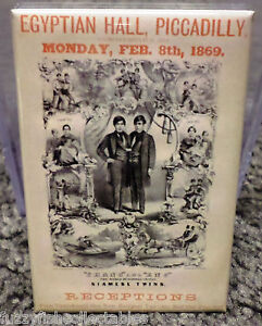 siamese twin freak show circus vintage poster 2quot x 3