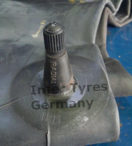 2x Schlauch 7.50-16 7,5-16 mit geradem Gummiventil TR15 für Traktor AS Front