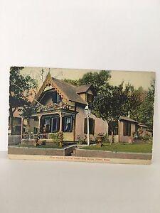 Postcard-Onset-WAREHAM-CAPE-COD-MA-MASS-First-House-Built-at-Onset-Bay-c-1909