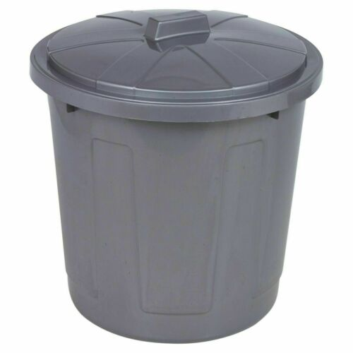 Large Heavy Duty Household Laundry Rubbish Waste Storage Bucket Basket Bin /& Lid