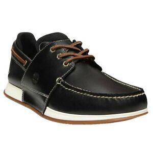 Nuevo-Zapatos-Nauticos-Timberland-Heger-Bay-Negro-Estilo-Cubierta-De-Vela-Talla-7-UK-40-EU