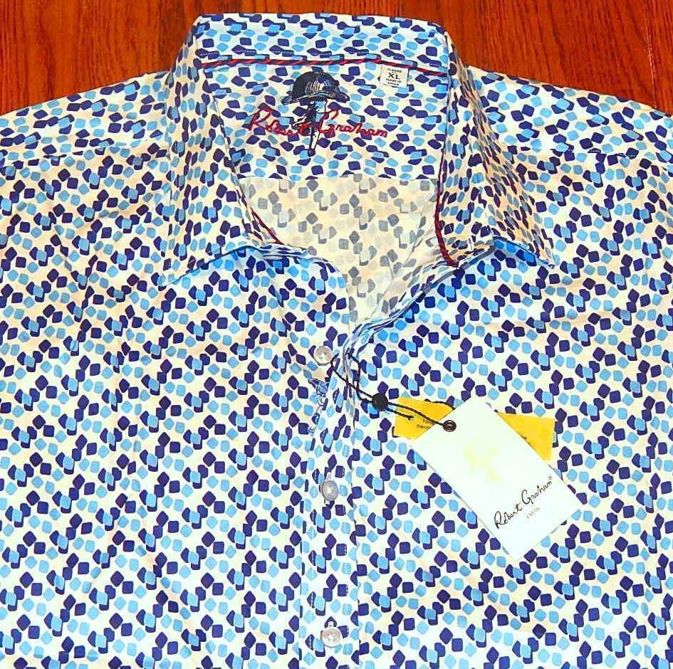 ROBERT GRAHAM AUTHENTIC herren BRAND NEW CLASSIC FIT DRESS hemd TOP Größe XL, NWT