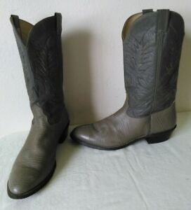 Details about NOCONA Vintage Men's Grayish Leather CowboyWestern boots Size 12 D Made in USA