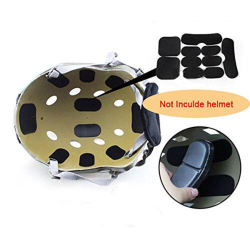 19Pcs Set Paintball Airsoft Tactical Military Helmpolster Jagdhelm Schutzpolster