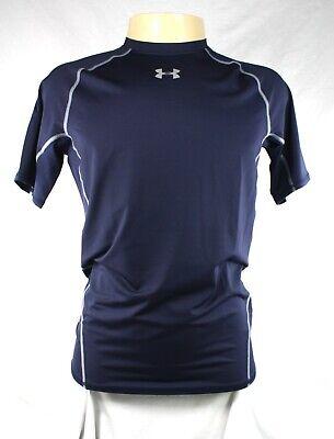 Under Armour Mens HeatGear Short Sleeve Compression T Shirt Tee Top Navy Blue