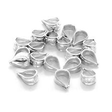 925 Sterling Silver Unsoldered Pendant Bail Connectors for Craft/ Repair (20 pc)