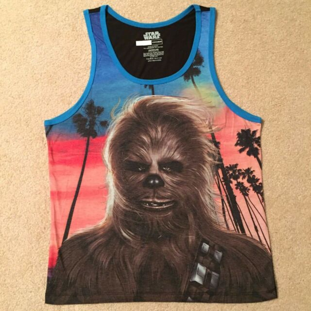 Star Wars CHEWBACCA Millennium FALCON Beach MEN'S Tank Top New SLEEVELESS Shirt