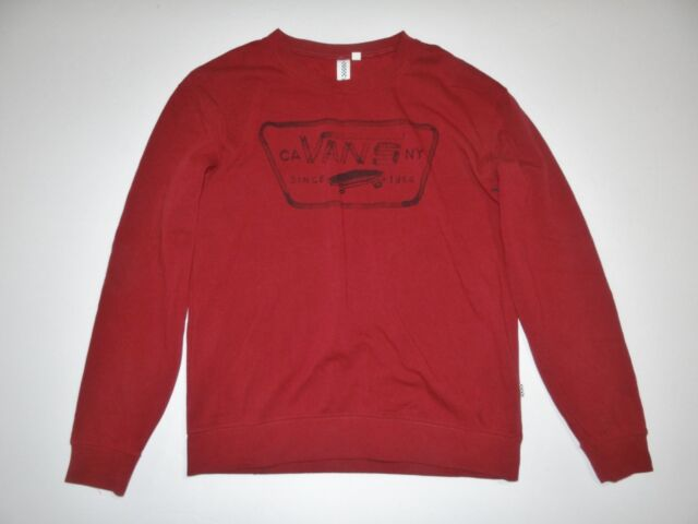 44481e5675fb86 VANS Womens Authentic Crew Fleece Pullover Sweatshirt Small for sale ...