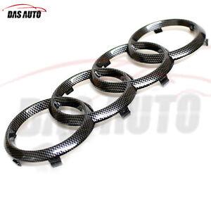 Fibra-de-Carbono-Parrilla-Insignia-Emblema-Trasero-Audi-A6-A7-Q2-Q3-Q5-Q7-RS-SLINE-Sq-Quattro