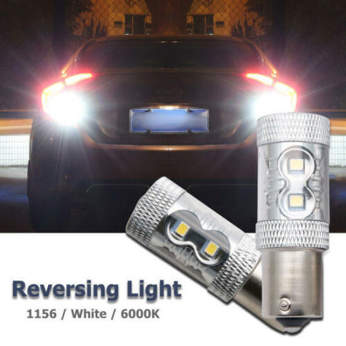 2 x P21W 382 BA15s 1156 DRL LED BULBs LIGHTS 50w WHITE CANBUS ERROR FREE Reverse