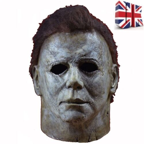 Deluxe Adult Horror Michael Myers Mask Latex Full Head Halloween Fancy Mask 2018