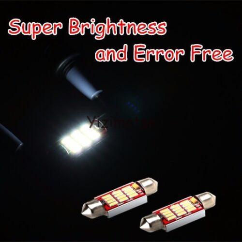Canbus WHITE Festoon 12SMD LED LICENSE Number PLATE REG LIGHTS For Passat Jetta