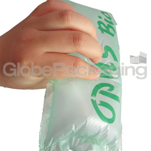 25 X Biodegradable pre Inflado Aire Almohadas Cojines vacío Suelto llenar 100x200mm