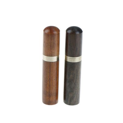 Ebony Wood Toothpick Holder Box Capsule Case Handmade Craft Room Decor BR
