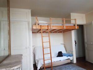 Bradé Mezzanine 2 Places Pour Adultes En Bois Massif Ebay