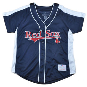 1b98033df MLB Boston Red Sox Eleanor Junior Womens Ladies Jersey Button Up ...