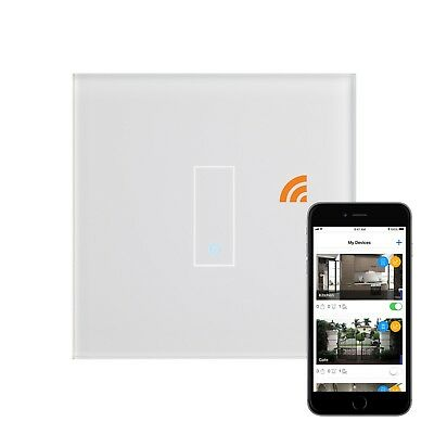 Ruimdenkende Retrotouch Iotty Touch & Remote Smart Wifi Switch 1 Gang White Glass 03500