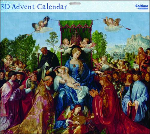 Madonna et enfant Peinture religieuse 3 D Grand Avent Calendrier 442 x 362 mm