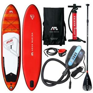 AQUA MARINA MONSTER ATLAS SUP Stand Up Paddle Board 366cm Paddel ISUP E-PUMPE