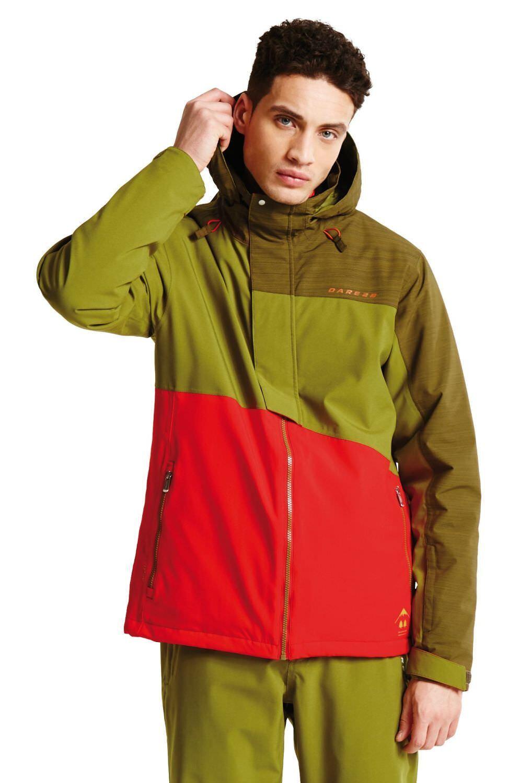 Dare2b Hombre Chaqueta de Esquí Chaqueta Esquí Hurl Down II red green