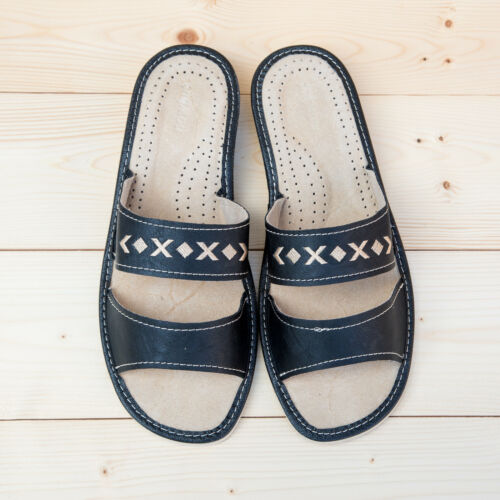 noir d'été tailles naturel Comfty en femmes cuir Slip Pantoufles pour été dames pour Véritable toutes vnZaOq6