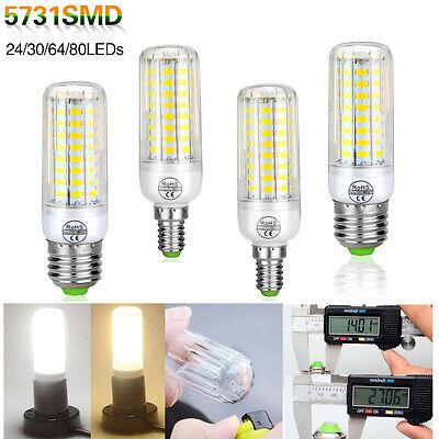 E27 E14 5736 5731 2835 SMD LED Corn Bulb Lamp Light White AC 110V/220V Bright