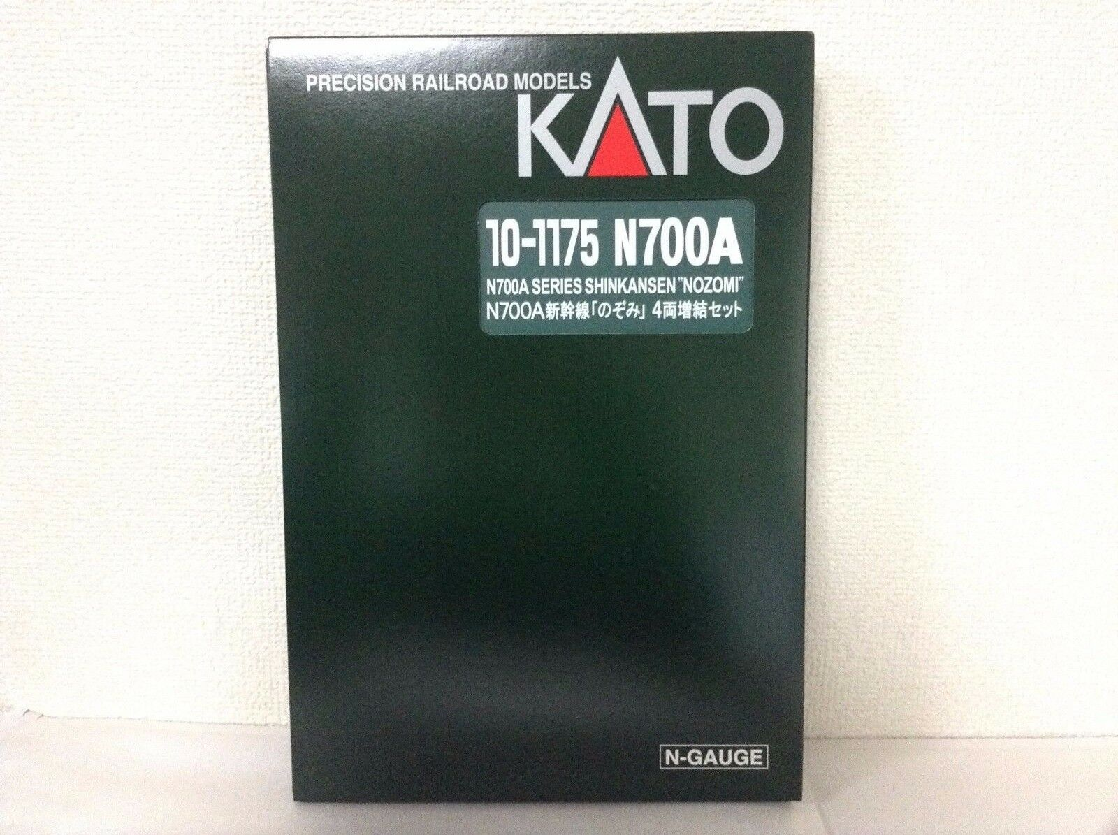 Kato 10-1175 Shinkansen Serie N700A Nozomi Add-On 4-Car Set F S
