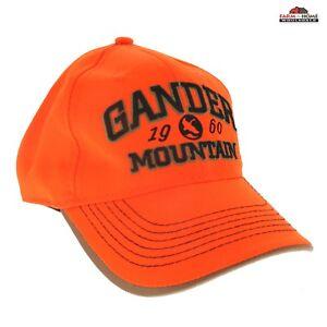 Blaze-Orange-Hunting-Safety-Cap-Hat-Gander-Mountain-NEW