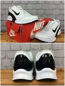 Nike-Donna-UK-7-EU-41-AIR-MAX-gioiello-Premium-Bianco-Nero-Scarpe-Da-Ginnastica-Rrp-80-LG