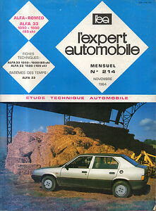 Rta Revue Technique Automobile N° 214 Alfa Romeo 33 1350 1500 éConomisez 50-70%