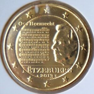 LU20013.3 - LUXEMBOURG - 2 euros commémo. Plaquée or Hymne national - 2013