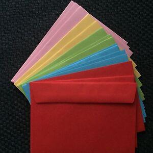 25-farbige-Briefumschlaege-DIN-C6-Nassklebung-114x162mm-ohne-Fenster-bunt