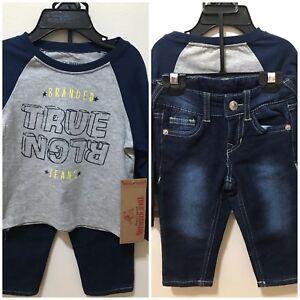 8ea4c1eb True Religion Boys Heather 12M 2-Piece Burned Out Jersey Tee & Jeans ...