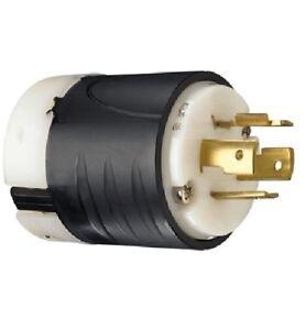 P & S L1420P Turnlok Plug, 4-Wire, 20A 125/250V, L14-20P ...