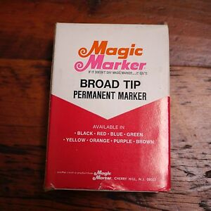 Box 12 NEW Vtg MAGIC MARKER Model 79 Waterproof Broad Tip GREEN Permanent Ink