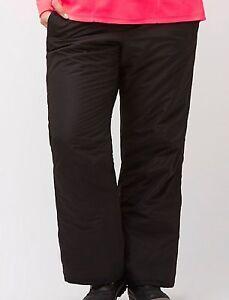 4bec1ada5d279 Lane Bryant Livi Active Black Ski Snow Pants Water Resistant Size 14 ...