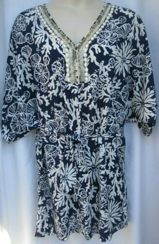 $238 Lilly Pulitzer WILDA Bright Navy In The Groov