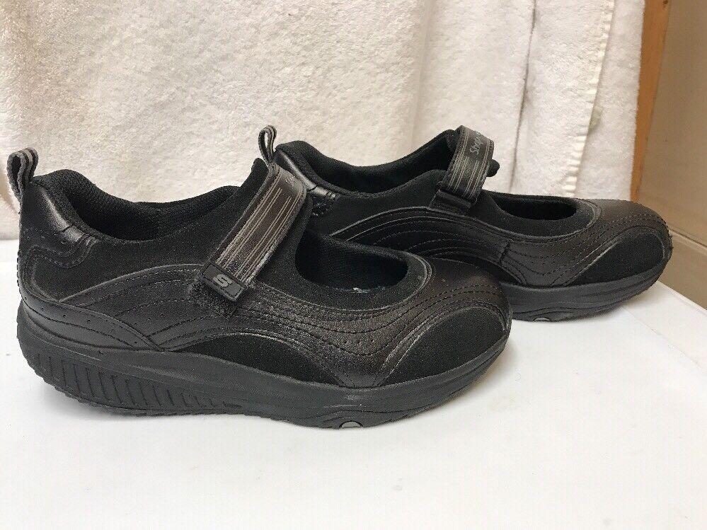 Skechers de Mujer Shape Ups Hyper Blast Mary Mary Mary Jane Zapatillas Negras Talla 6.5 de EE. UU. 24867 dd7994