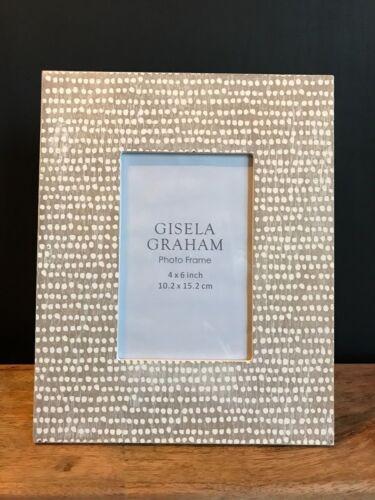 Photo Cadre photo 4x6 Blanc Crème Neutre en BOIS DOT Gisela Graham Shabby Chic