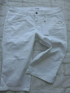 Sheego-Jeans-Trousers-Stretch-White-short-Ladies-Size-48-plus-Size-332